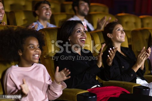 483876497 istock photo Diverse spectators applauding after show 1188593768
