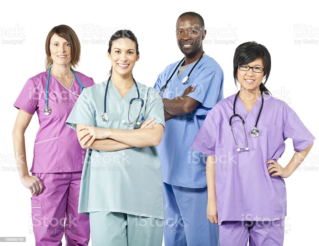 Diverse Team of Health Care Workers royalty-free stock photo
