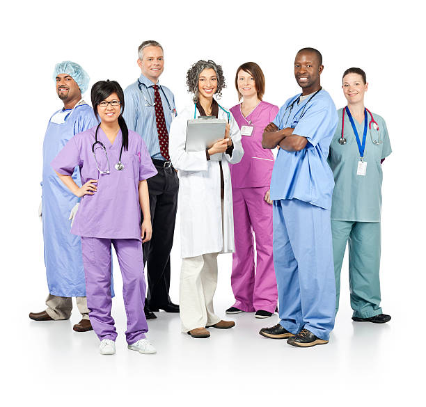 Diverse Team of Healthcare Professionals stock photo