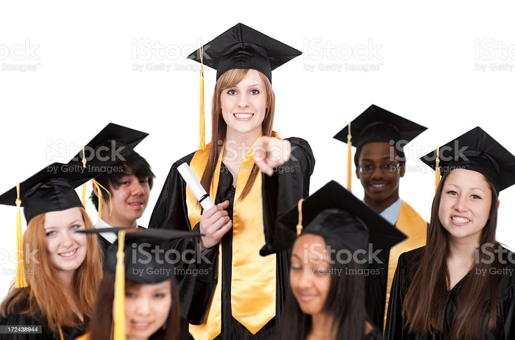 Diverse University Graduates royalty-free stock photo