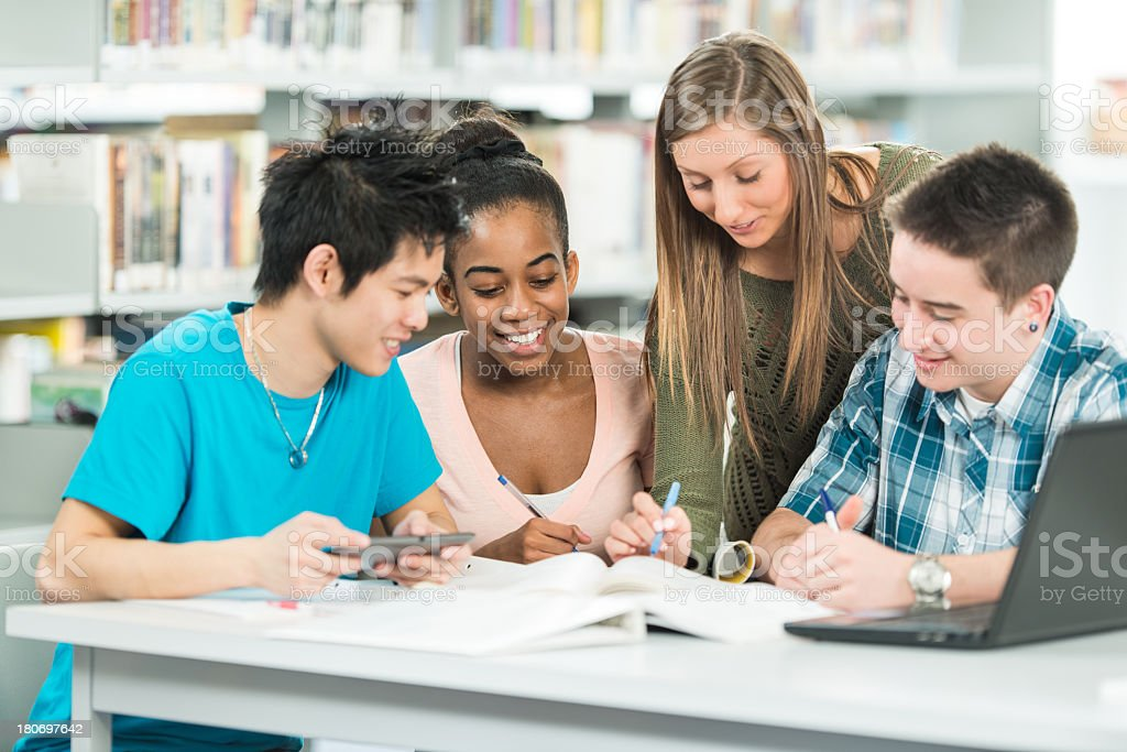 Diverse University Students stock photo
