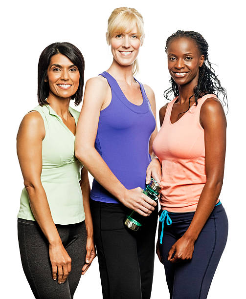 Diverse Women in Workout Clothing - Isolated http://i152.photobucket.com/albums/s173/ranplett/isolated-people.jpg only mature women stock pictures, royalty-free photos & images