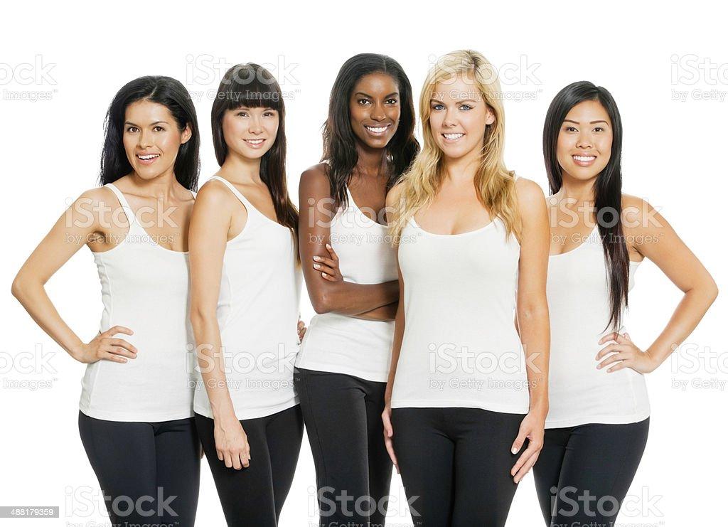 Diverse Women on White stock photo