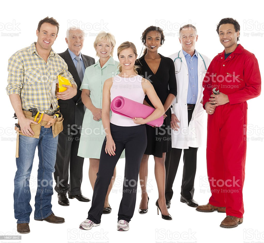 Diverse Workforce Portrait - Isolated royalty-free stock photo