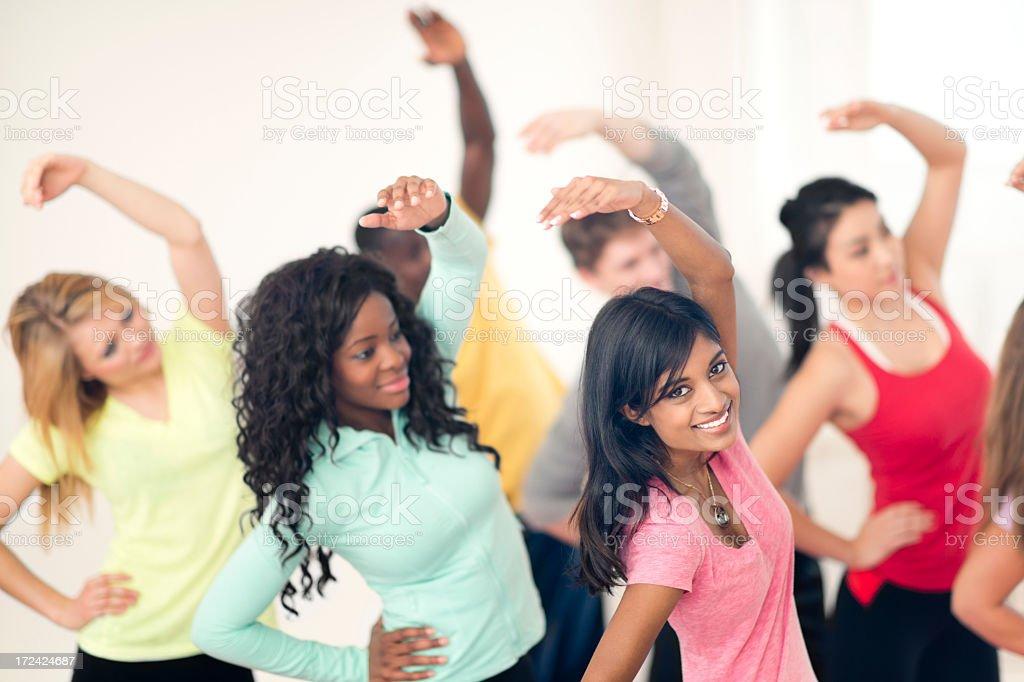 Diverse Yoga Class royalty-free stock photo