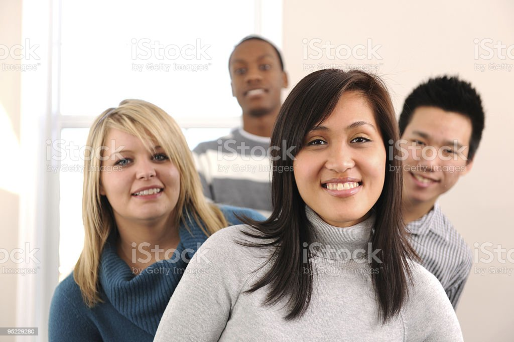 Diverse Young Adults royalty-free stock photo