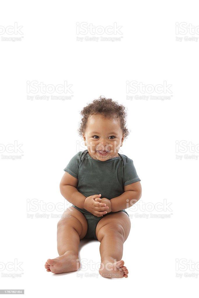 Diversity: Adorable Black Toddler Boy stock photo