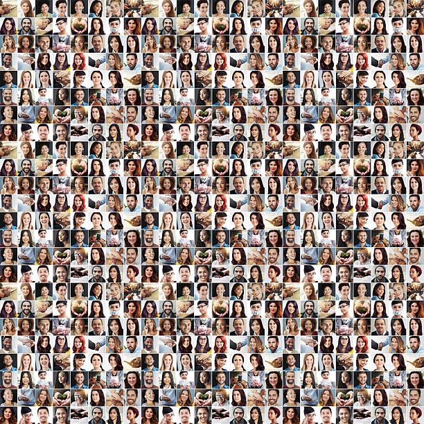vielfalt und unterschied - große personengruppe stock-fotos und bilder