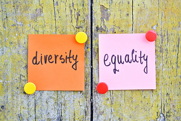 Diversity and Equality Stickers with words Diversity and Equality on wooden background stop single word stock pictures, royalty-free photos & images