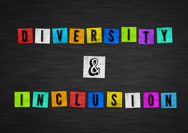 Diversity and Inclusion - chalkboard concept stock photo