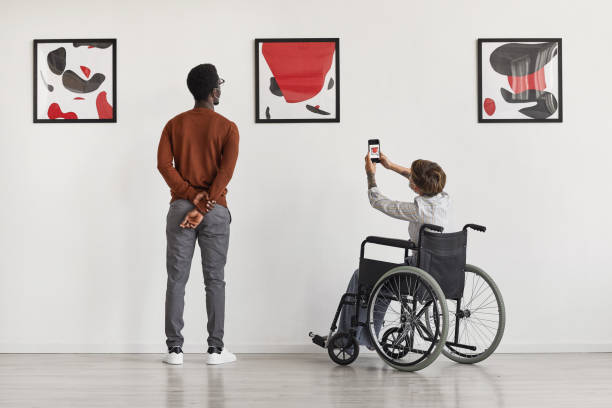 Diversity and Inclusion in Museum stock photo
