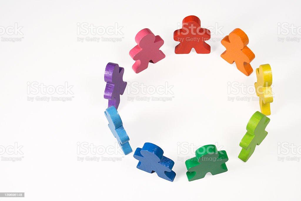 Diversity and Teamwork royalty-free stock photo