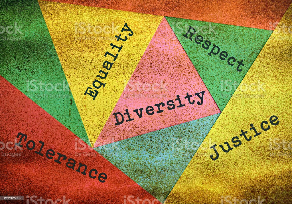 Diversity and tolerance stock photo