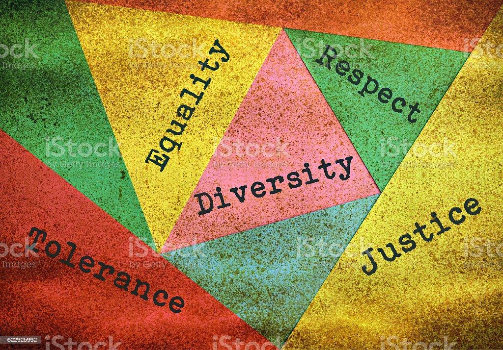 Diversity and tolerance - foto de stock