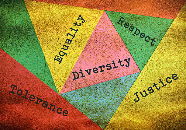 Diversity and tolerance Concept about people diversity and tolerance on multicolor background dignity stock pictures, royalty-free photos & images