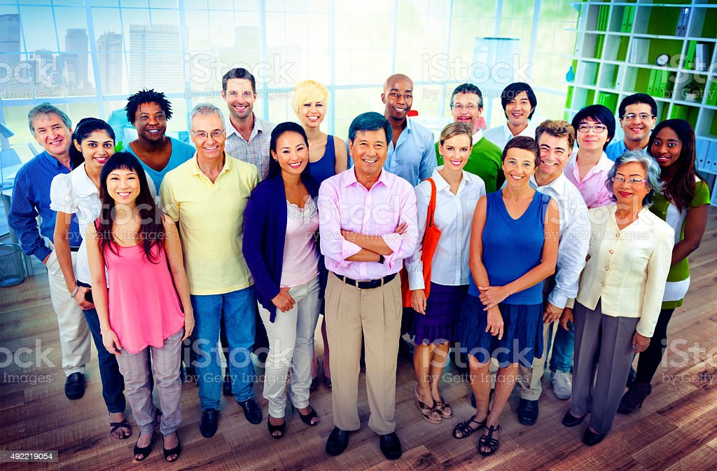 Diversity Business Collaboration Partnership Teamwork Concept stock photo