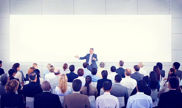 Diversity Business People Seminar Presentation Team Concept stock photo