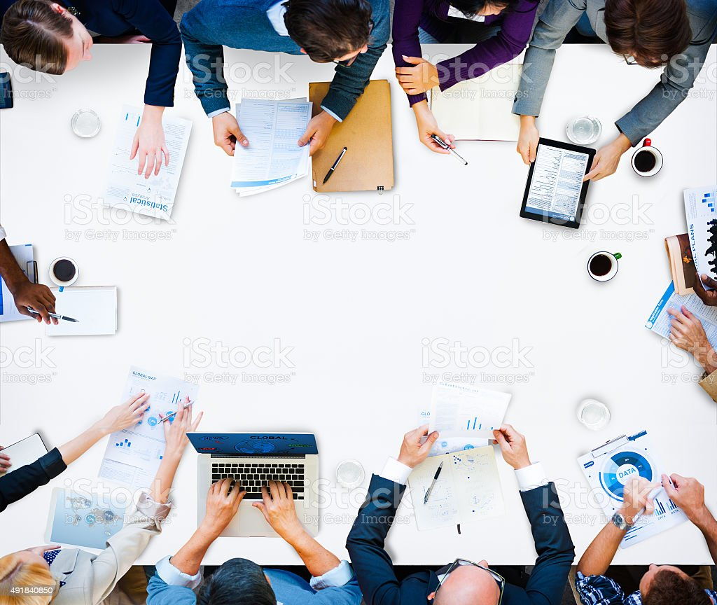Diversity Business Team Planning Board Meeting Strategy Concept stock photo