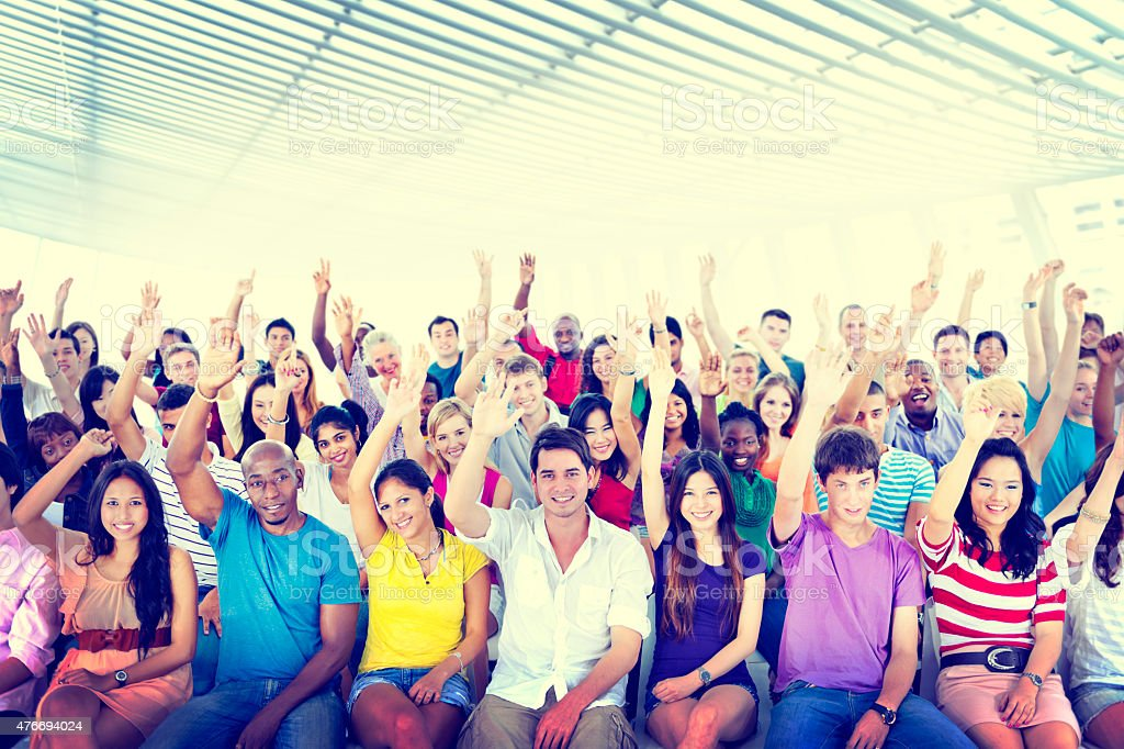 Diversity Casual Team Cheerful Community Concept stock photo