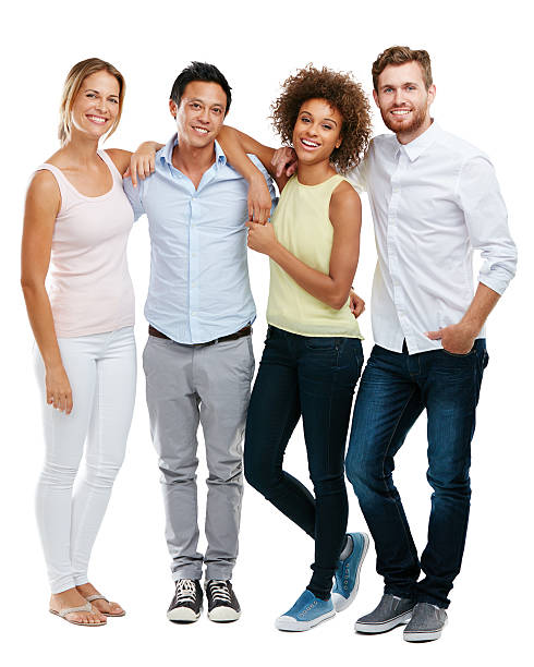 Diversity enriches the human experience Studio portrait of a diverse group of people posing against a white background four people stock pictures, royalty-free photos & images