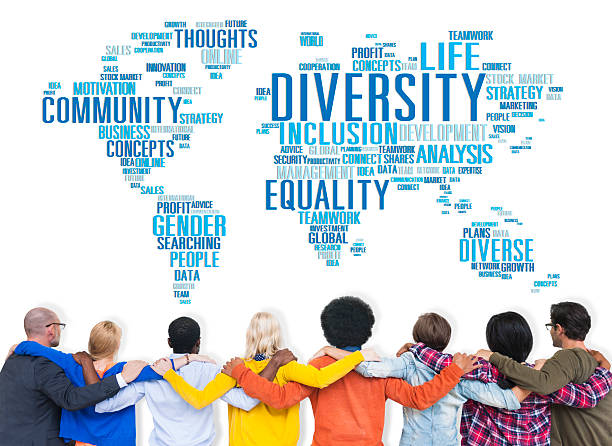 Diversity Ethnicity World Global Community Concept Diversity Ethnicity World Global Community Concept global village stock pictures, royalty-free photos & images