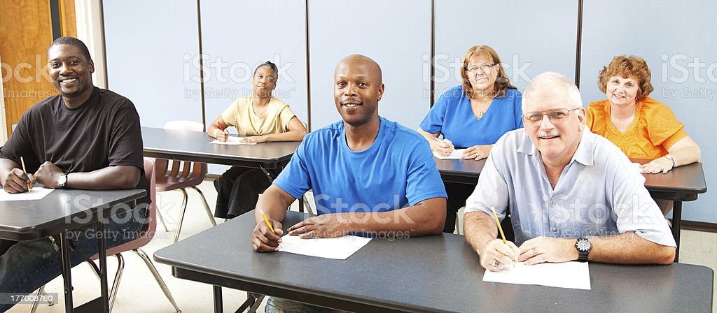 Diversity in Adult Education - Banner royalty-free stock photo