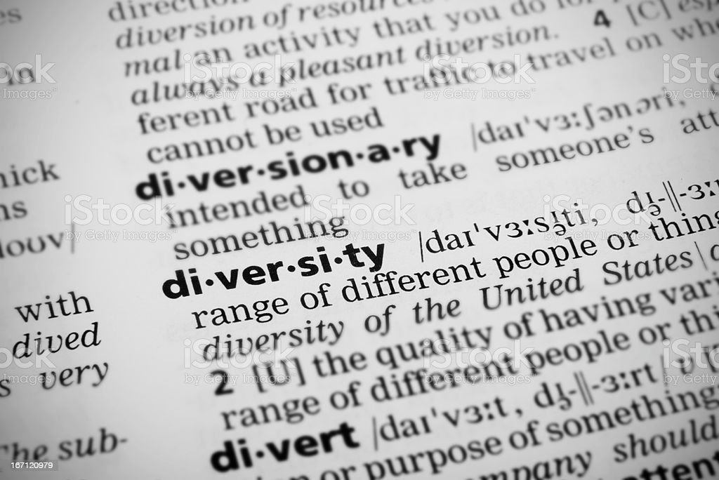 Diversity in Dictionary royalty-free stock photo