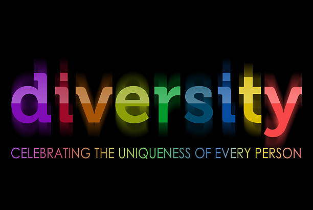 Diversity in rainbow colors Diversity in rainbow colors, celebrating the uniqueness of every person social justice concept stock pictures, royalty-free photos & images