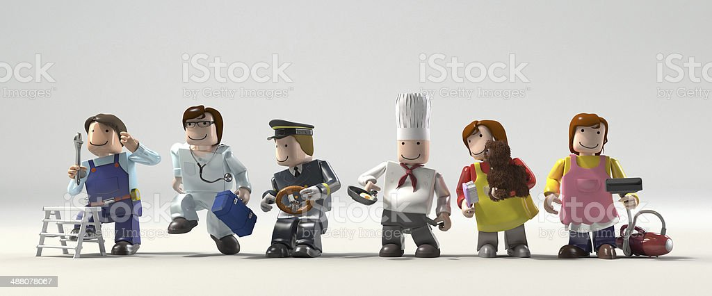 Diversity occupations people stock photo