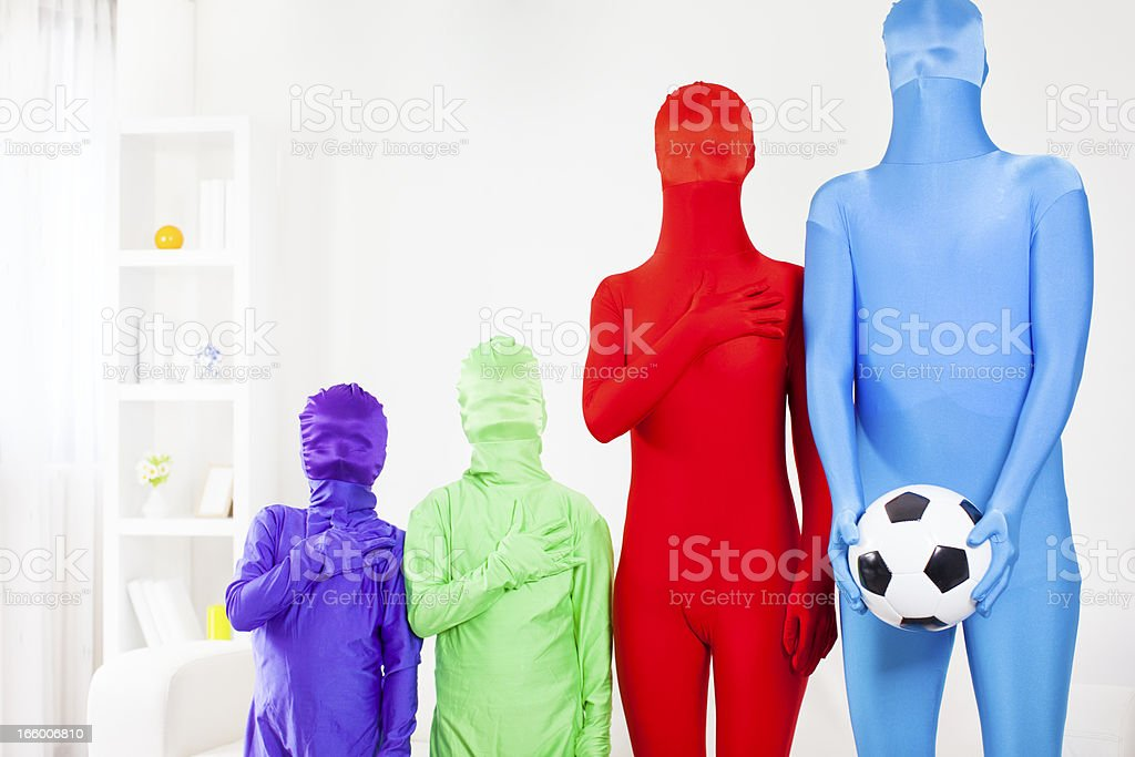 Diversity of soccer fans. stock photo