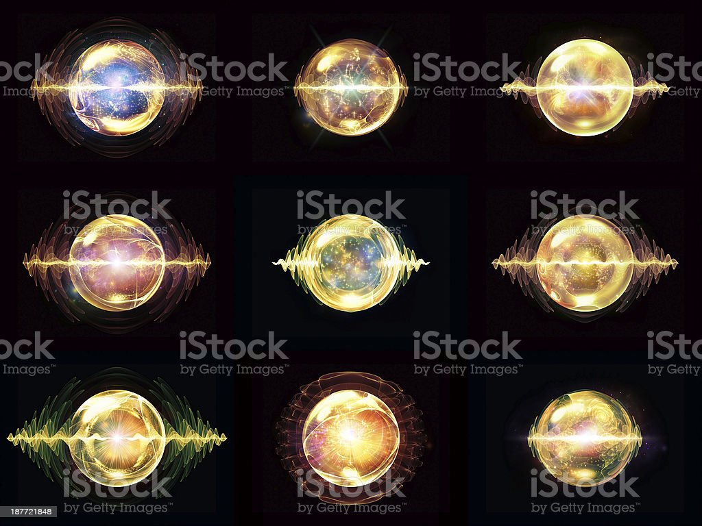 Diversity of Wave Particle royalty-free stock photo