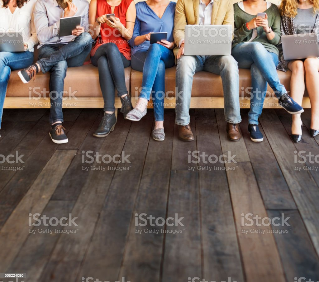 Diversity People Connection Digital Devices Browsing Concept royalty-free stock photo