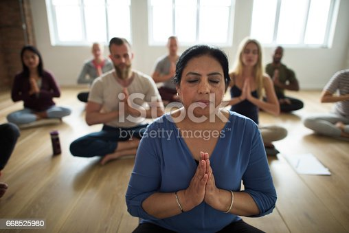 istock Diversity People Exercise Class Relax Concept 668525980