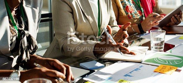 istock Diversity People Talk International Conference Partnership 667432198