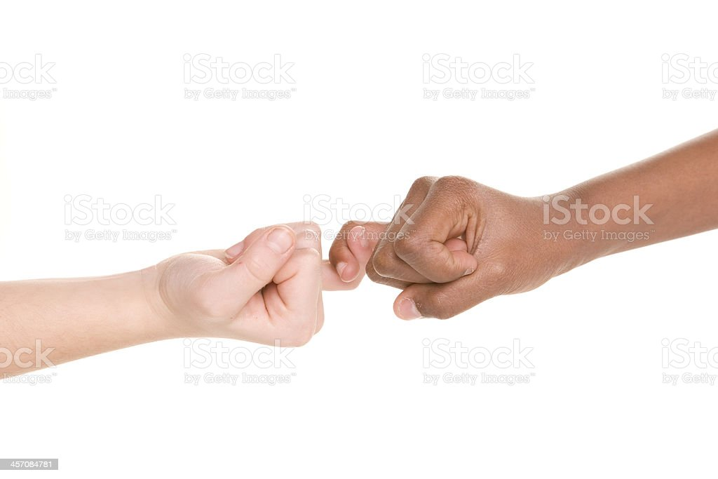 Diversity Series Pinkie Swear Promise stock photo