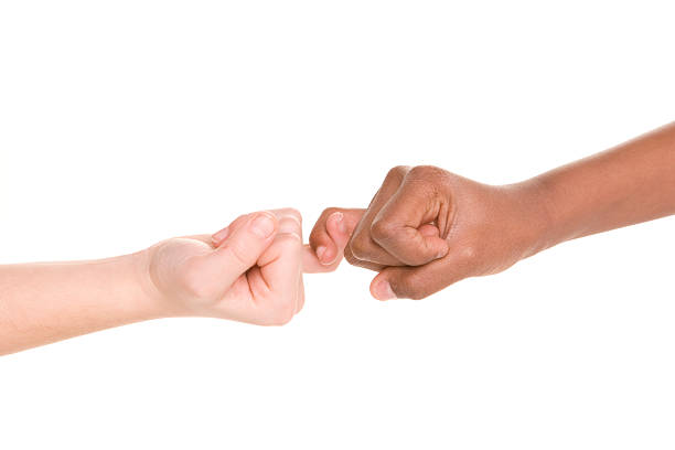 diversity series pinkie swear promise - pinky promise stock photos and pictures