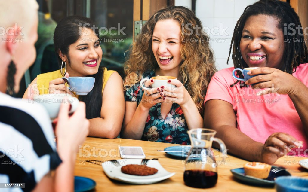 Diversity Women Socialize Unity Together Concept stock photo
