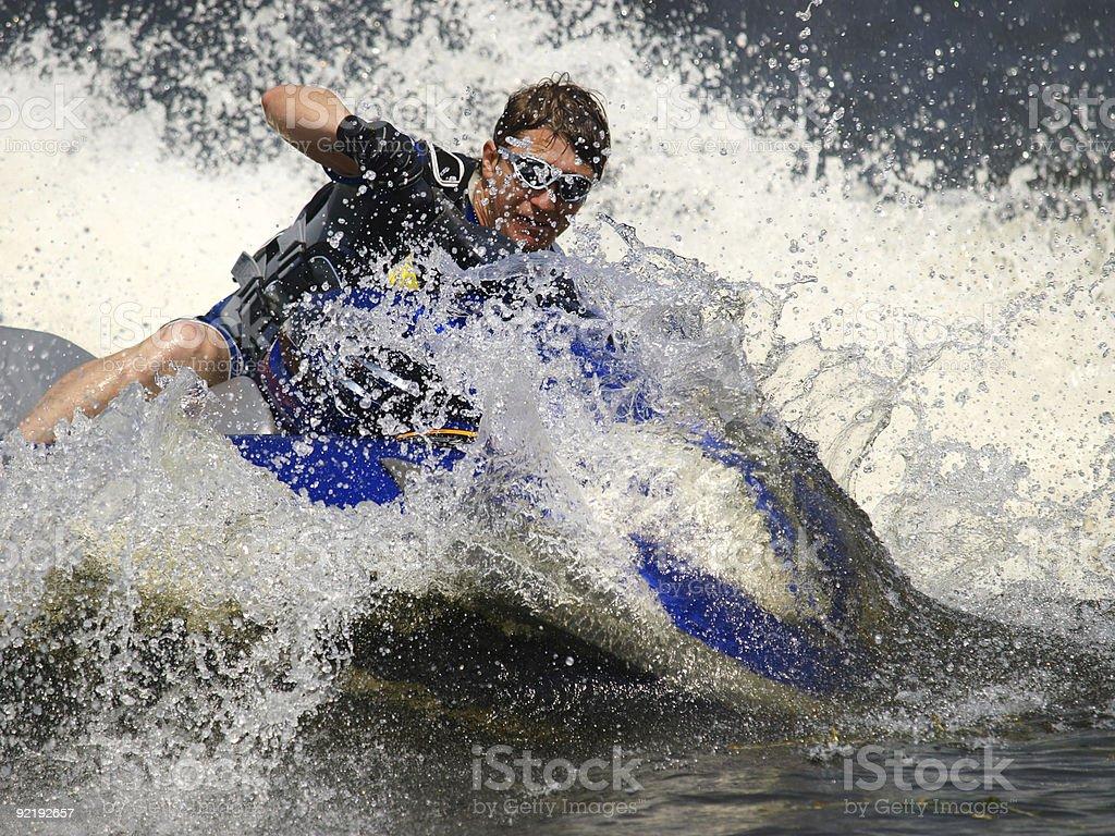 Dives Man on jet-ski royalty-free stock photo