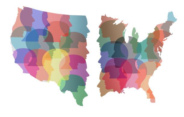 divided america - выборы президента стоковые фото и изображения