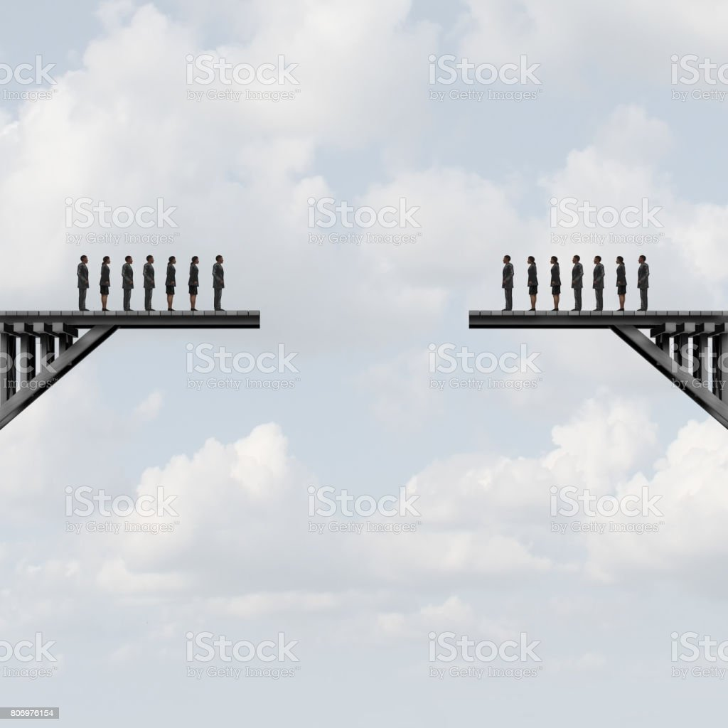 Divided Groups stock photo