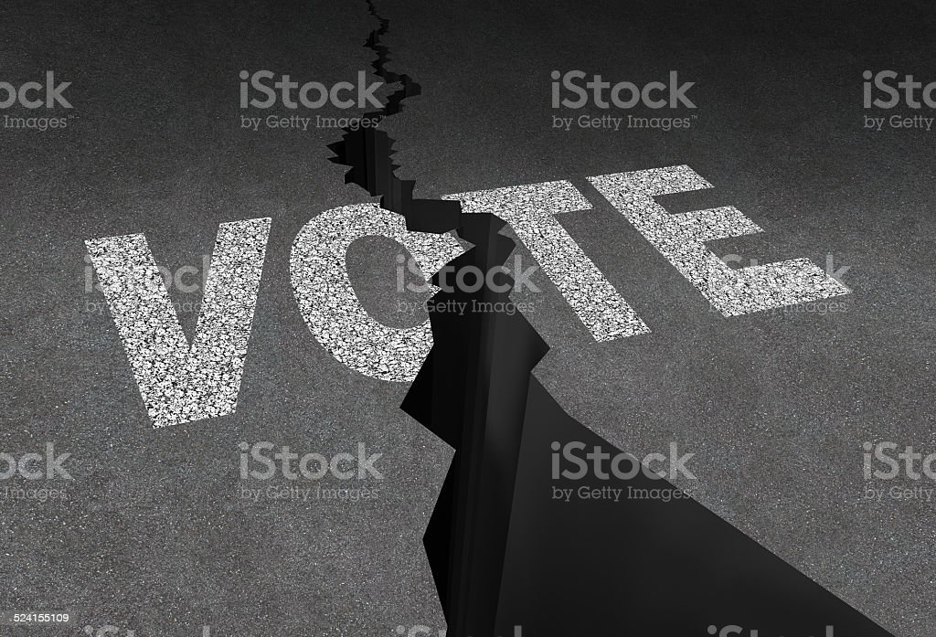 Divided Vote stock photo