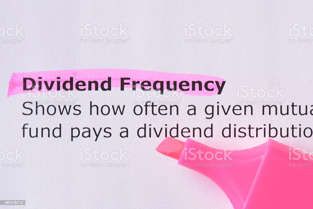Dividend Frequency stock photo