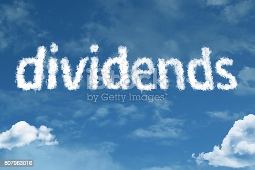 Dividends clouds sky