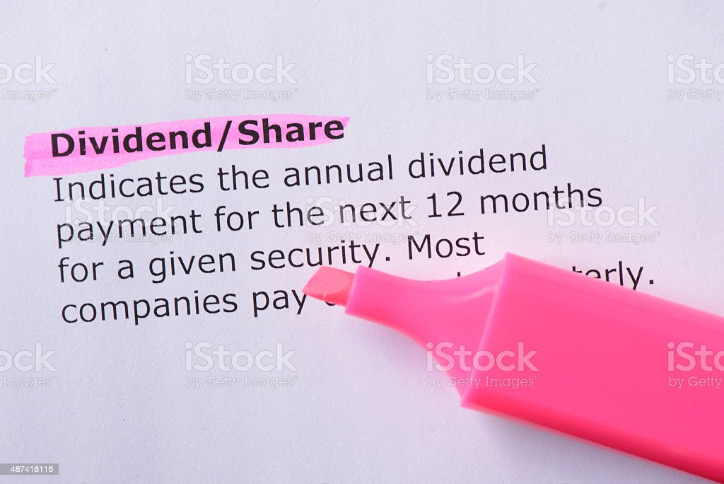 Dividend/Share stock photo