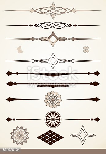 istock Dividers and decorative design elements 854920104