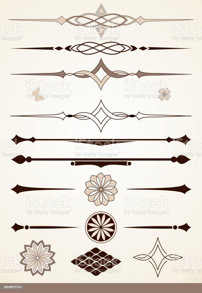 Dividers and decorative design elements stock photo