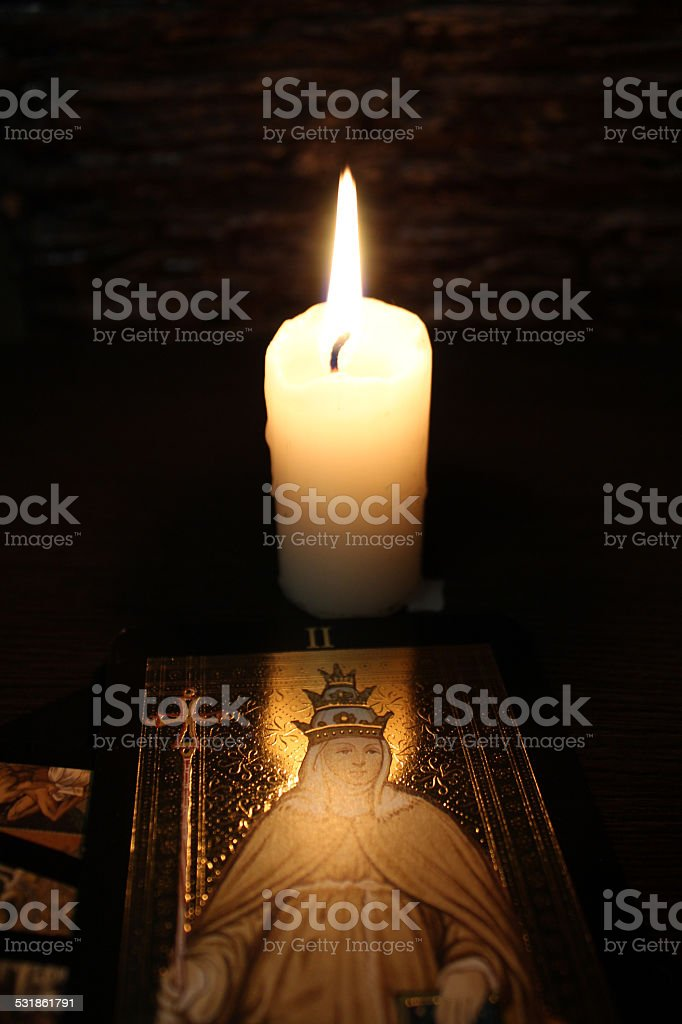 Divination by Tarot stock photo