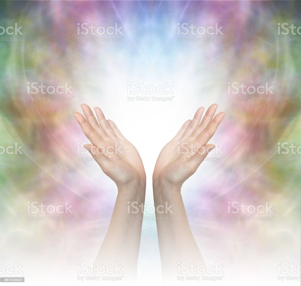 Divine Healing Energy stock photo
