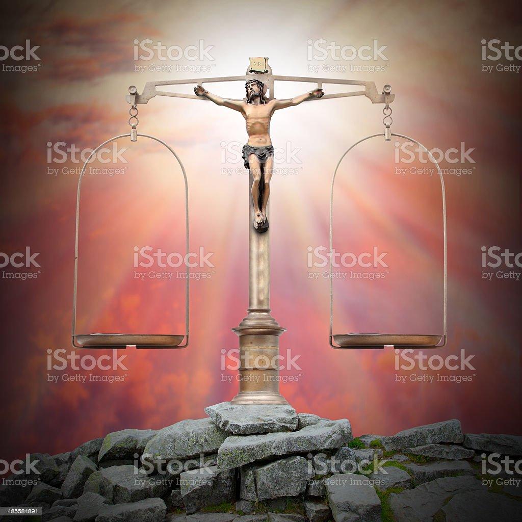 Divine justice. stock photo