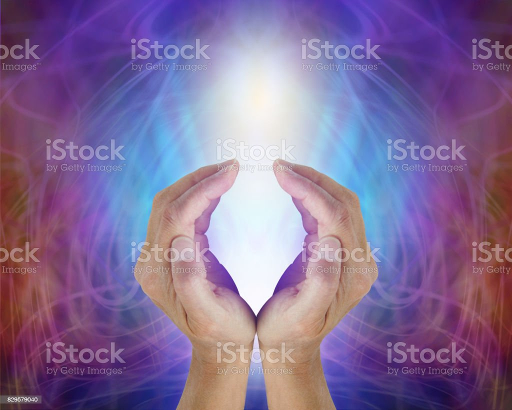 Divine Light Sacred Source of All That Is stock photo